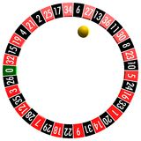 Roulette symbol Stock Photography