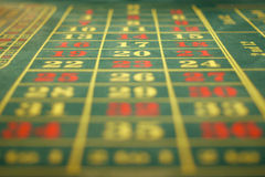 Roulette table. Green roulette table with digits royalty free stock photo