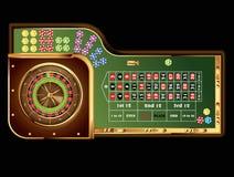 Roulette table vector illustration