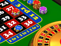Roulette table Royalty Free Stock Images