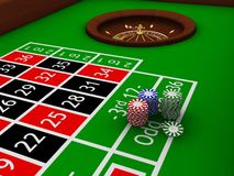 Free Roulette Table Royalty Free Stock Photo - 811895