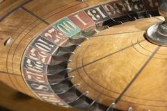 1897 Roulette Table. This antique old Roulette table was made in 1897 made in New York by F. Grote and Company. This was bought by Soencer Penrose along with the royalty free stock photo