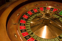 Roulette table in the casino Stock Images