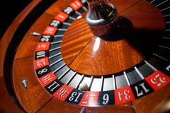 Roulette table. Casino gambling 13 thirteen Royalty Free Stock Photography