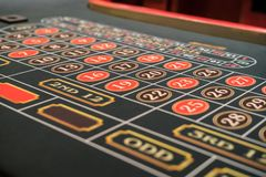 Roulette table. Close up of a roulette table royalty free stock photos