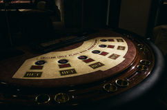 Roulette table. Detail of a green roulette table with some numbers Royalty Free Stock Photography