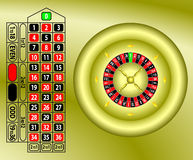 Roulette table gold vector Royalty Free Stock Image