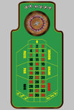 Roulette table. Illustration of french roulette table, view from above Royalty Free Stock Images