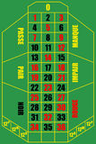 Roulette table. Illustration of french roulette table, view from above Stock Photo