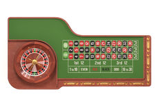 Roulette Table Over White Royalty Free Stock Photography