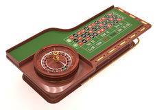 Roulette Table Over White Royalty Free Stock Image