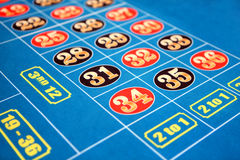 Roulette table. A section of a roulette casino game is shown Royalty Free Stock Photos