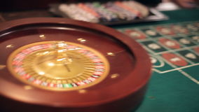 Roulette Table stock video