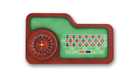 Roulette Table  on white, top view Royalty Free Stock Image