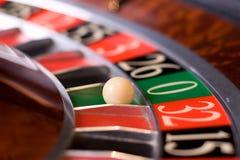 Roulette van het casino, nul wint Stock Afbeelding