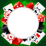 Roulette Vector Casino Background. Vector casino background with cardes, dices and roulette Royalty Free Illustration