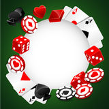 Roulette Vector Casino Background Royalty Free Stock Photos