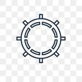 Roulette vector icon isolated on transparent background, linear royalty free illustration