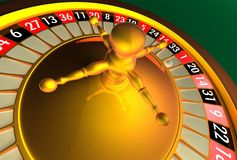Roulette - weniger Reflexionen Lizenzfreies Stockfoto
