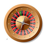 Roulette wheel. Vector illustration of a roulette wheel with small ball vector illustration