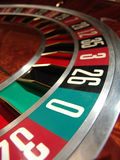 Roulette wheel. In casino (macro royalty free stock image