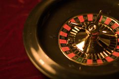 Roulette wheel. Close view. Low depth resolution Royalty Free Stock Image