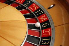 Roulette wheel. Casino roulette wheel fortune number royalty free stock photos