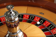 Roulette wheel. Casino roulette wheel fortune number Stock Photography