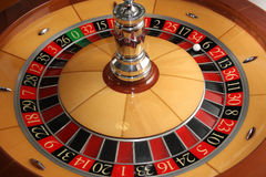 Roulette wheel. Casino roulette wheel fortune number royalty free stock photography