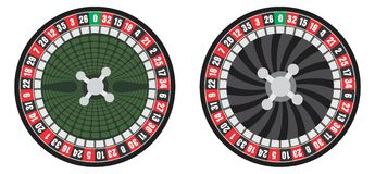 Roulette wheel. Vector illustration of a two roulettes Stock Images