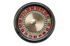 Roulette Wheel. Old Roulette Wheel isolated on white Royalty Free Stock Photos