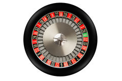 Roulette Wheel. Isolated on white background stock images