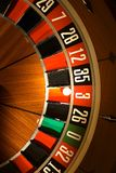 Roulette wheel. With ball on 3, nice light stock photos
