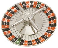 Roulette Wheel. Hand made clipping path included royalty free stock photos