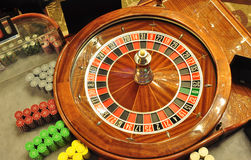 Roulette wheel royalty free stock photos