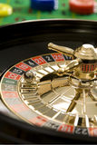 Roulette wheel. With ball on 32 stock image