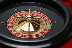 Roulette wheel. Close-up in the casino Stock Images