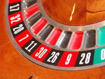 Roulette Wheel. Detail of a Roulette wheel stock photography