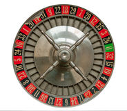 Roulette Wheel. Old Roulette Wheel isolated on white stock photography