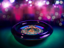 Roulette wheel with a bright and colorful background Stock Photography