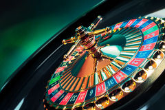 Roulette wheel with a bright and colorful background Stock Image