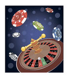 Roulette Wheel cartoon Stock Photography