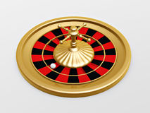 Roulette wheel of casino. On white background Royalty Free Stock Photos