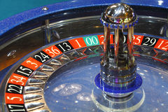 Roulette wheel casino. Roulette wheel in casino showing numbers royalty free stock photography