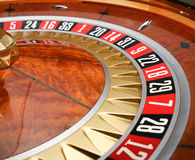 Roulette Wheel. In a casino stock image