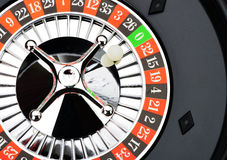 Roulette wheel in casino closeup Stock Photography