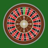 Roulette, a roulette wheel of a casino. Casino logo. Flat design, vector illustration, vector Royalty Free Stock Image