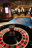 Roulette wheel in casino Stock Images