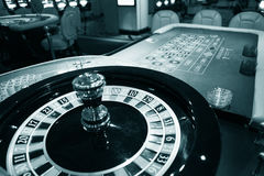 Roulette wheel in casino Royalty Free Stock Photos