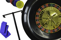 Roulette wheel and chips Royalty Free Stock Photo